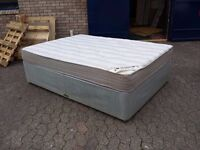 double divan bed with 8 inch thick orthopaedic mattress