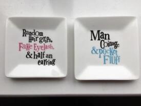 Set of 2 Rachel Bright Trinket Dishes