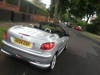 PEUGEOT 206 CC CABRIOLET 54 REG ELECTRIC HOOD 206cc quick silver cheap to insure