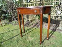 Console table, neat with curved drawer front