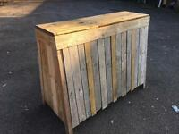 Rustic Wooden Festival Party Bar