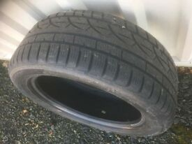 2 no 235 x18 hankook winter tyres very good thread