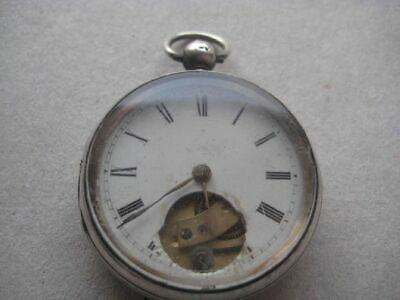 Antique Silver Key Wind Pocket Watch, London 1881 830AND21