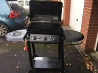 Blooma 3 burner gas fired BBQ with side burner, 2 levels of cooking and in great condition