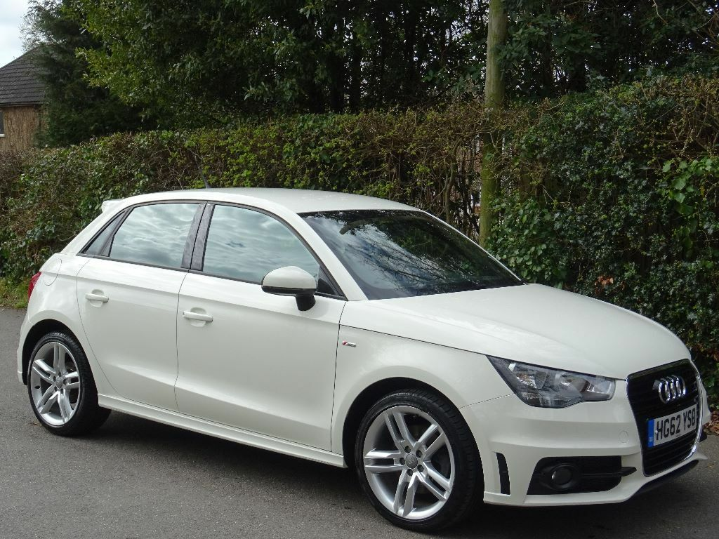 2013 62 audi a1 1 6 tdi s line sportback 5dr white navigation s line 1 owner in. Black Bedroom Furniture Sets. Home Design Ideas