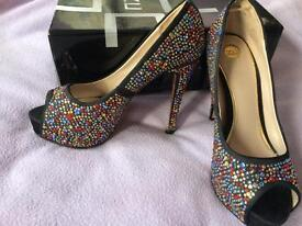 Size 10 sequinned shoes