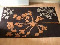 Brown and orange rug 4ft length 3ft wide