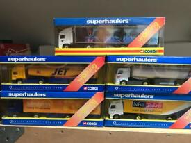 5 corgi superhauler model trucks