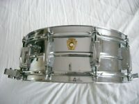 Ludwig 410 seamless alloy Supersensitive snare drum 14 x 5 - Chicago - '65/'68 - Vintage
