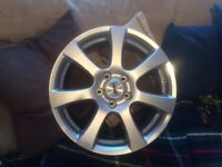 Brand new alloys wheels 4x5/112 17""
