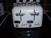 four slice toaster (cream)