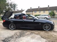 BMW 325i M Sport Convertible Red leather interior £7000!