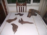 Various pieces of Bog Wood and ornaments for fish tank and 2 external filters