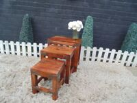 SHESHAM JALI NEST OF TABLES VERY SOLID SET AND IT'S IN EXCELLENT CONDITION 45/30/45 cm £40