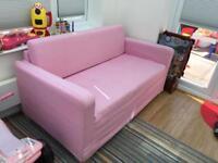 Ikea pink 2 seater sofa