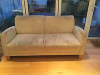 3 seater mushroom colour sofa