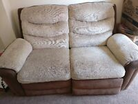 2 Seater Sofa, beige and brown, used and average condition hence low price, please no time wasters