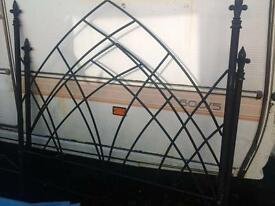 Metal gothic style bed frame