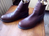 Authentic Men's Brown Leather HUNTER Perth Jodhpur Boots UK 11