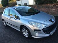 PEUGEOT 308 1.4 VTI S 5 DOOR HATCH , 58 PLATE , WITH ONLY 58,000 MILES
