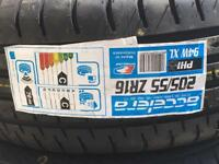 Pair new 205/55 R16 tyres