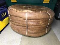 Moroccan Leather Poof / Stool / seat