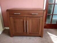 Hygena darker wood cabinet x2
