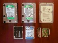 "Pack of HDDs - 3x 3.5"" 1TB, 1x 2.5"" 320GB, 1x 2.5"" 250GB internal drives -TESTED AND FORMATTED CLEAN"