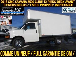2016 GMC Savana 3500 CUBE 12 PIEDS DECK ROUE SIMPLE