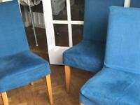 Contemporary Dining Chairs x 5 with removable covers