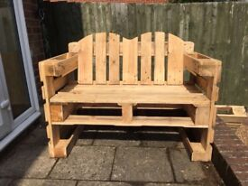 Garden furniture with euro-pallets