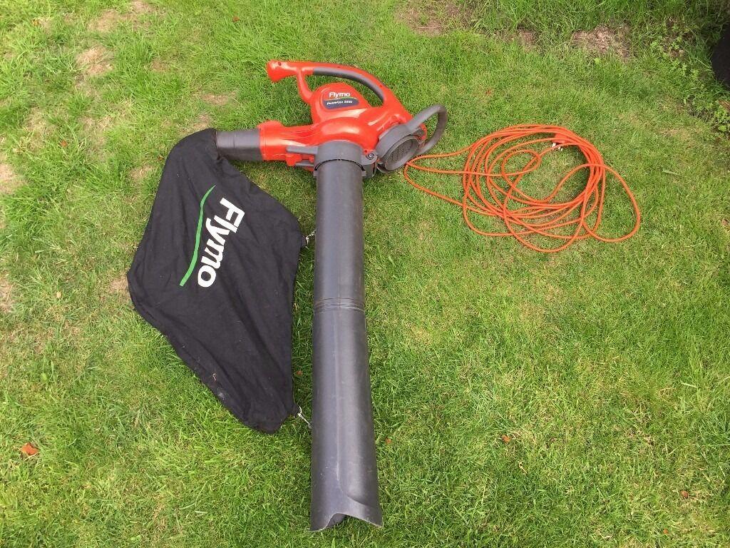 Flymo Powervac 3000 Electric Garden Vacuum leaf collector shredder 220v 3000w RRP £145