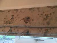 Vantage Pheasants Roman Blinds x 2