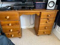 Pine dressing table desk
