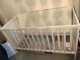 Ikea Sundvik Cot Bed and Skonast Foam Mattress