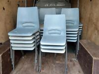 62 xCheap stacking chairs on clearance just £3 each !!