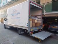 VAN HIRE /MAN AND VAN FROM £15/HR , LUTON VAN WITH TAIL LIFT / RECYCLE/OFFICE MOVE/ REMOVAL