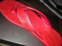 "Louis Vuitton Slipper ""Red Thong"""