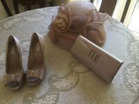 Matching hat, shoes and bag suitable for wedding all in excellent condition