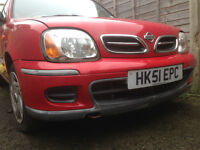Red Automatic Nissan Micra K11 2002