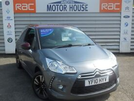 Citroen DS3 DSTYLE (WOW FACTOR) FREE MOT'S AS LONG AS YOU OWN THE CAR!!! (grey) 2010
