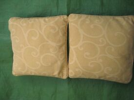 2 Cream Patterned Cushions - 2 for £5.00