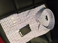 Jaeger (Size 17) purple check shirt - new/unopend