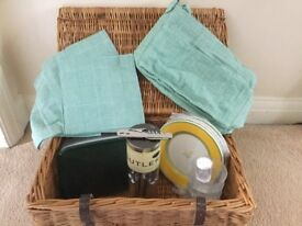 Picnic basket wicker 4 place setting never been used