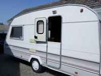 caravan 2 berth, 30+ yrs old, only 2 owners, v good condition, awning, new water pump, hook up cable
