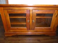 Solid wood TV unit and coffee table rose wood finish