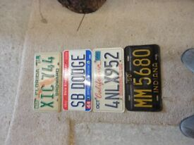USA Number plates