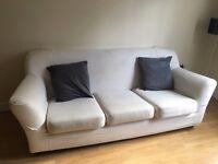 "GREAT DEAL: Contemporary White / Cream 3 Seater Ikea Sofa - RRP £475"""