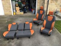 Ford Focus st225 orange recaro seats