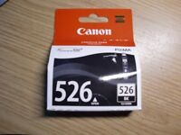 Canon Pixma 526 Black Ink 9ml genuine manfacturer ink - sealed as new